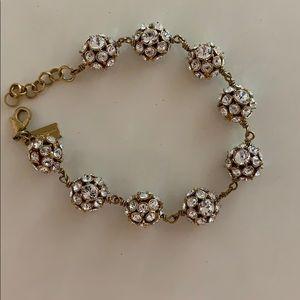 Never worn Kate Spade crystal ball bracelet